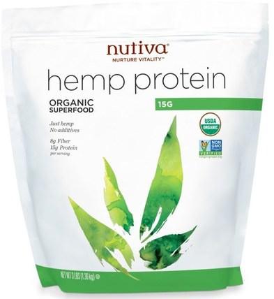 Organic Hemp Protein 15g, 3 lbs (1.36 kg) by Nutiva, 補充劑,efa omega 3 6 9(epa dha),大麻製品,大麻蛋白粉 HK 香港