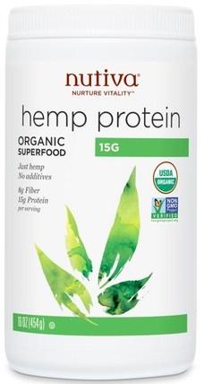 Organic Superfood, Hemp Protein, 15 G, 16 oz (454 g) by Nutiva, 補充劑,efa omega 3 6 9(epa dha),大麻製品,大麻蛋白粉 HK 香港
