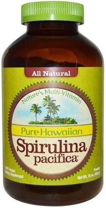 Pure Hawaiian Spirulina Pacifica, Natures Multi-Vitamin, Powder, 16 oz (454 g) by Nutrex Hawaii, 補充劑,螺旋藻 HK 香港