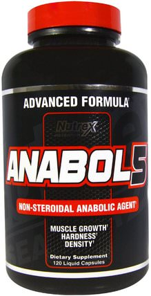 Anabol 5, 120 Liquid Capsules by Nutrex Research Labs, 補充劑,合成代謝補品,運動,肌肉 HK 香港