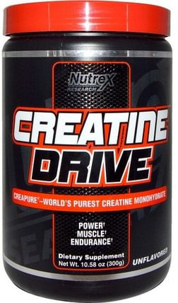 Creatine Drive, Unflavored, 10.58 oz (300 g) by Nutrex Research Labs, 健康 HK 香港