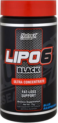 Lipo 6 Black, Ultra Concentrate, Blue Raspberry, 75 g by Nutrex Research Labs, 減肥,飲食,運動 HK 香港