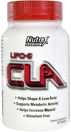 Lipo-6 CLA, 45 Softgels by Nutrex Research Labs, 減肥,飲食,cla(共軛亞油酸) HK 香港