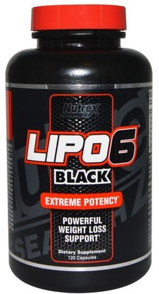Lipo6 Black, Extreme Potency, Weight Loss, 120 Capsules by Nutrex Research Labs, 減肥,飲食 HK 香港