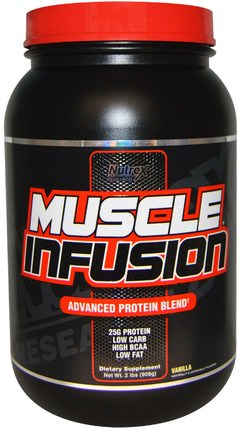 Muscle Infusion, Advanced Protein Blend, Vanilla, 2 lbs (908 g) by Nutrex Research Labs, 補充劑,蛋白質 HK 香港