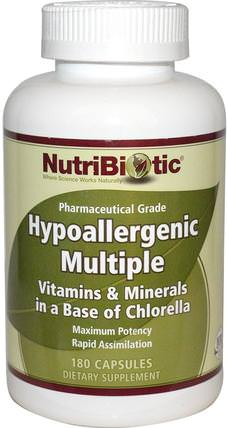 Hypoallergenic Multiple, 180 Capsules by NutriBiotic, 維生素,多種維生素 HK 香港