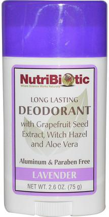 Long Lasting Deodorant Stick, Lavender, 2.6 oz (75 g) by NutriBiotic, 洗澡,美容,除臭女性 HK 香港
