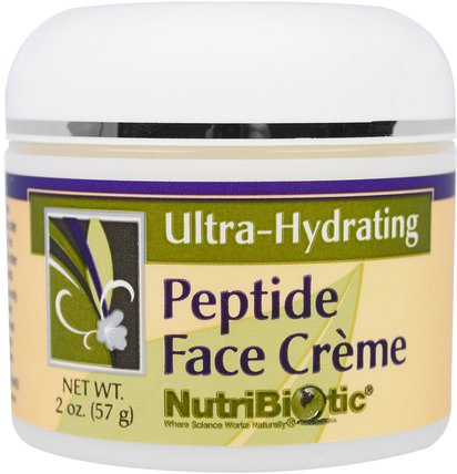 Peptide Face Creme, Ultra-Hydrating, 2 oz (57 g) by NutriBiotic, 美容,面部護理,面霜,乳液 HK 香港