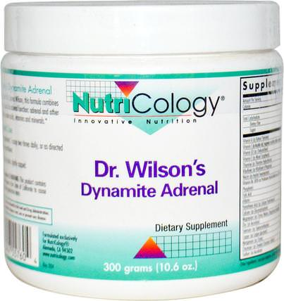 Dr. Wilsons Dynamite Adrenal, 10.6 oz (300 g) by Nutricology, 補充劑,腎上腺 HK 香港