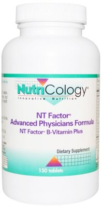 NT Factor, Advanced Physicians Formula, 150 Tablets by Nutricology, 健康,注意力缺陷障礙,添加,adhd,腦,維生素,維生素B複雜 HK 香港