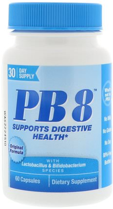 PB8, Original Formula, 60 Capsules by Nutrition Now, 補充劑,益生菌,穩定的益生菌 HK 香港