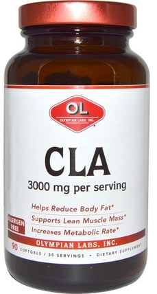 3000 mg, 90 Softgels by Olympian Labs CLA, 減肥,飲食,cla(共軛亞油酸) HK 香港