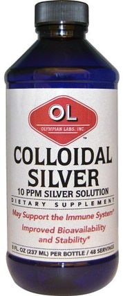 8 fl oz (237 ml) by Olympian Labs Colloidal Silver, 補充劑,膠體銀 HK 香港