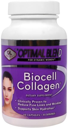 Olympian Labs Optimal Blend, Biocell Collagen, For Women, 60 Capsules 健康,女性,透明質酸