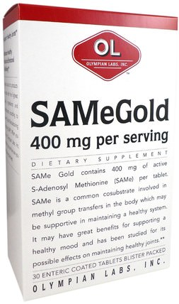 400 mg, 30 Enteric Coated Tablets by Olympian Labs SAMe Gold, 健康,藥物濫用,成癮,sam-e(s-adenosyl methionine),sam-e 400 mg HK 香港