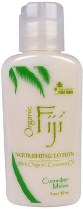 Nourishing Lotion, Cucumber Melon, 3 oz (89 ml) by Organic Fiji, 洗澡,美容,潤膚露 HK 香港