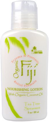 Nourishing Lotion with Organic Coconut Oil, Tea Tree Spearmint, 3 oz (89 ml) by Organic Fiji, 沐浴,美容,椰子油皮 HK 香港