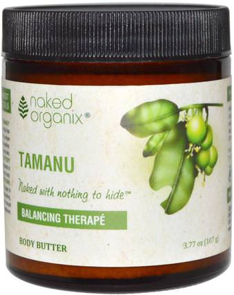 Balancing Therap, Tamanu Body Butter, 3.77 oz (107 g) by Organix South, 洗澡,美容,身體護理,健康,皮膚,身體黃油 HK 香港