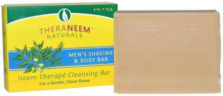Organix South, TheraNeem Naturals, Mens Shaving & Body Bar, 4 oz (113 g) 洗澡,美容,剃須膏