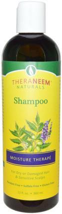 Organix South, TheraNeem Naturals, Shampoo, Moisture Therap, 12 fl oz (360 ml) 洗澡,美容,頭髮,頭皮,洗髮水,護髮素