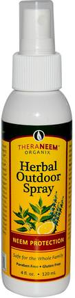 TheraNeem Organix, Herbal Outdoor Spray, 4 fl oz (120 ml) by Organix South, 家庭,蟲子和驅蟲劑 HK 香港