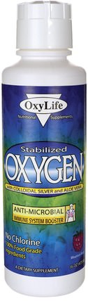 Stabilized Oxygen With Colloidal Silver and Aloe Vera, Mountain Berry, 16 oz (473 ml) by OxyLife, 補充劑,氧氣補充劑,感冒和病毒,免疫系統 HK 香港