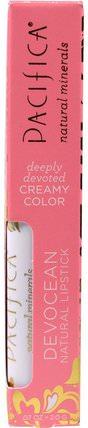 Pacifica, Devocean, Natural Lipstick, XOX.07 oz (2.0 g) 洗澡,美容,口紅,光澤,襯墊
