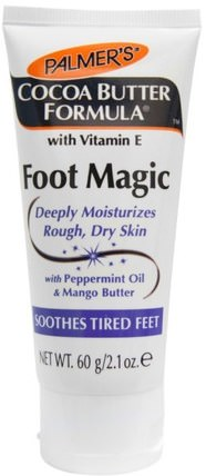 Cocoa Butter Formula, Foot Magic, with Peppermint Oil & Mango Butter, 2.1 oz (60 g) by Palmers, 洗澡,美容,膏霜腳 HK 香港