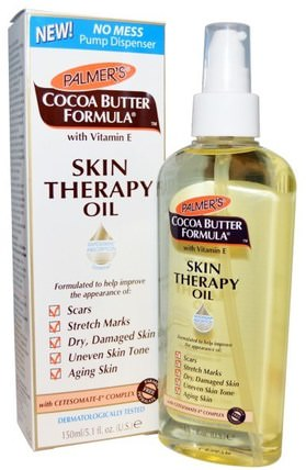 Cocoa Butter Formula, Skin Therapy Oil, 5.1 fl oz (150 ml) by Palmers, 健康,皮膚,妊娠紋疤痕,美容,面部護理,皮膚類型色素沉著,曬傷皮膚 HK 香港