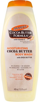 Cocoa Butter Formula with Vitamin E, Moisturizing Cocoa Butter Body Wash with Shea Butter, 13.5 fl oz (400 ml) by Palmers, 洗澡,美容,沐浴露 HK 香港