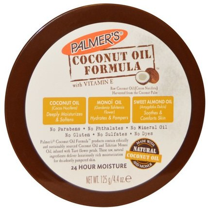 Coconut Oil Formula, Body Cream, 4.4 oz (125 g) by Palmers, 沐浴,美容,椰子油皮,潤膚露 HK 香港