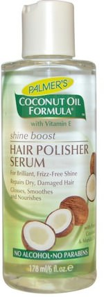 Coconut Oil Formula, Hair Polisher Serum, 6 fl oz (178 ml) by Palmers, 洗澡,美容,頭髮,頭皮,洗髮水,護髮素,護髮素 HK 香港