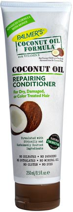 Coconut Oil Formula, Repairing Conditioner, 8.5 fl oz (250 ml) by Palmers, 洗澡,美容,頭髮,頭皮,洗髮水,護髮素,椰子油皮膚 HK 香港