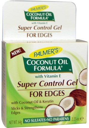 Coconut Oil Formula, Super Control Gel, For Edges, 2.25 oz (64 g) by Palmers, 洗澡,美容,頭髮,頭皮,洗髮水,護髮素,椰子油皮膚 HK 香港