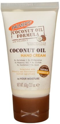 Coconut Oil, Hand Cream, 2.1 oz (60 g) by Palmers, 沐浴,美容,護手霜,椰子油皮膚 HK 香港