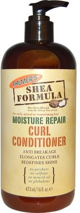 Shea Formula, Moisture Conditioner, Curl Repair, 16 fl oz (473 ml) by Palmers, 洗澡,美容,頭髮,頭皮,洗髮水,護髮素,護髮素 HK 香港