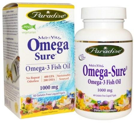 Mes Vita, Omega-3 Fish oil, 1000 mg, 60 Gelatin Free Liquid Vgels by Paradise Herbs, 補充劑,efa omega 3 6 9(epa dha),dha,epa,魚油 HK 香港