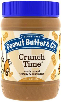 Crunch Time, Crunchy Peanut Butter, 16 oz (454 g) by Peanut Butter & Co., 食物,花生醬 HK 香港