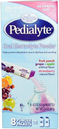 Oral Electrolyte Powder, Variety Pack, 8 Powder Packets, 0.3 oz (8.5 g) Each by Pedialyte, 兒童健康,兒童食品,嬰兒,嬰兒補品 HK 香港