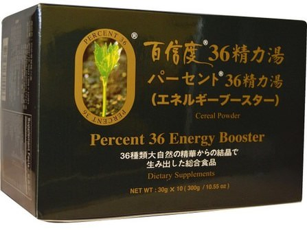 Percent 36, Energy Booster, Cereal Powder, 10 Bags, 30 g Each by Percent Ashitaba, 健康,能量,補品,抗氧化劑,ashitaba HK 香港