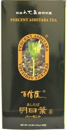 Percent Ashitaba, Tea, 40 Tea Bags, 3.5 oz (2.5 g) Each 食物,涼茶