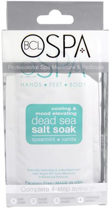 BCL Spa, Hands, Feet and Body, Cooling & Mood Elevating, Spearmint plus Vanilla, 4 Piece Kit by Petal Fresh, 美容,面膜,沐浴鹽 HK 香港