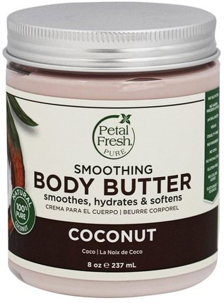 Body Butter, Ultra Moisturizing, Coconut, 8 oz (237 ml) by Petal Fresh, 健康,皮膚,身體黃油 HK 香港