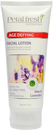 Botanicals, Age Defying Facial Lotion, Aloe & Lavender, 7 fl oz (200 ml) by Petal Fresh, 美容,面部護理,皮膚,面霜,乳液 HK 香港