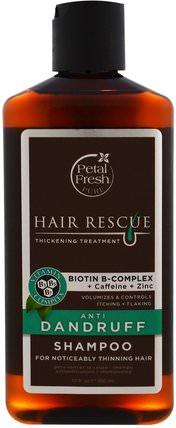 Hair Rescue Thickening Treatment, Anti Dandruff Shampoo, 12 fl oz (355 ml) by Petal Fresh, 洗澡,美容,頭髮,頭皮,洗髮水,護髮素 HK 香港