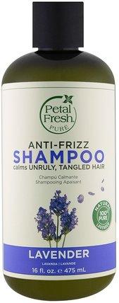 Pure, Anti-Frizz Shampoo, Lavender, 16 fl oz (475 ml) by Petal Fresh, 洗澡,美容,頭髮,頭皮,洗髮水,護髮素 HK 香港
