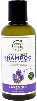 Pure, Anti-Frizz Shampoo, Lavender, 3 fl oz (90 ml) by Petal Fresh, 洗澡,美容,頭髮,頭皮,洗髮水,護髮素 HK 香港