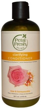 Pure, Softening Conditioner, Rose & Honeysuckle, 16 fl oz (475 ml) by Petal Fresh, 洗澡,美容,頭髮,頭皮,洗髮水,護髮素,護髮素 HK 香港