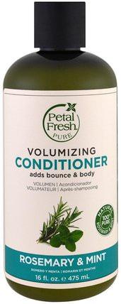 Pure, Volumizing Conditioner, Rosemary & Mint, 16 fl oz (475 ml) by Petal Fresh, 洗澡,美容,頭髮,頭皮,洗髮水,護髮素 HK 香港