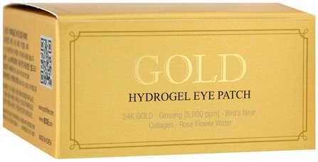 Gold Hydrogel Eye Patch, 60 Pieces by Petitfee, 美容,面膜,面膜,浴 HK 香港